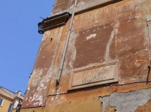 Cartel de la Piazza della Rotonda, en Roma