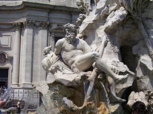 Detalle de la Fontana dei Quattro Fiumi, de Bernini