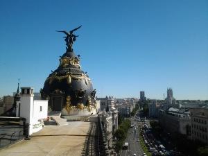 Vistas de Madrid y del edificio Metrópolis (18.9.2013)