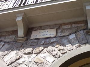 Cartel en Piazza della Signoria