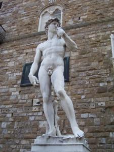 Réplica del David, Piazza della Signoria