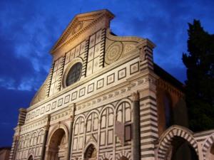 Basilica de Santa María Novella al anochecer