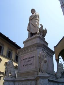 Monumento a Dante en la Piazza Santa Croce