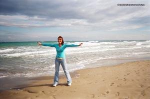 Yo en la playa de El Campello, Alicante (noviembre de 2004)