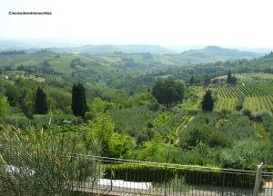 Paisaje toscano desde San Gimignano