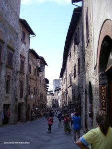 Calle principal de San Gimignano (Julio de 2013)