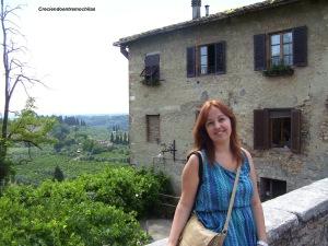 Yo en la entrada a San Gimignano, julio de 2013