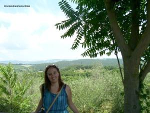 Perdida entre los paisajes de Monteriggioni, julio de 2013