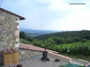 Vistas de la región del Chianti, Italia