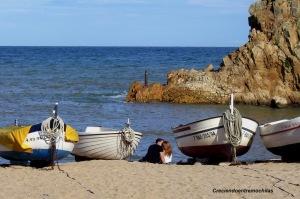 Playa de Sa Palomera, de Blanes (septiembre de 2005)