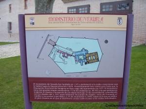 Cartel informativo del Monasterio de Veruela