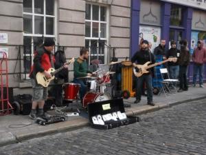 Música en directo en Temple Bar, Dublín