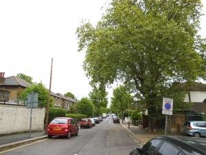 Vista de Hampston Road, Londres