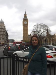 Encantada de la vida con el Big Ben al fondo (11.05.2014)