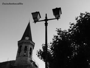 Campanario de la iglesia de Sant Miquel de Vielha (16.07.2014)