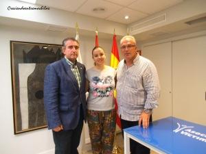 Con Miguel Ángel Folguera y Alfonso Sánchez en la AVT (21.7.2014)