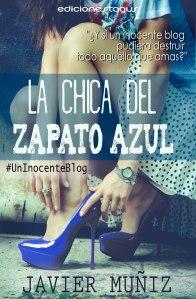 "Portada de ""La chica del zapato azul"", la primera novela de Javier"
