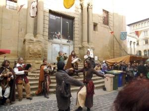 Estupendo espectáculo medieval en Vic