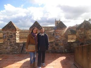 Con mi amigo Diego en Cáceres (noviembre)