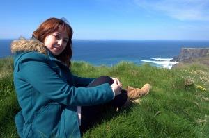 En los acantilados de Moher, Irlanda