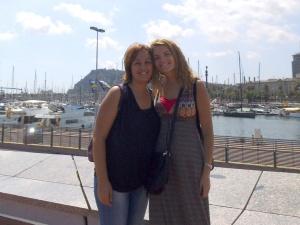 Mi amiga Patri y yo en Barcelona