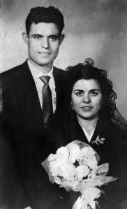 Mis abuelos paternos el día de su boda